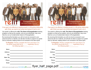 Flyer - Half Page